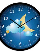 Creative Personality Beautiful Night Bedroom Living Room Metal Mute Quartz Wall Clock