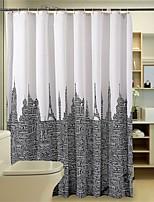 Modern Architecture Pattern Shower Curtains W71