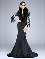 TS Couture® Formal Evening Dress Trumpet / Mermaid Sweetheart Court Train Lace / Taffeta with Flower(s) / Sequins