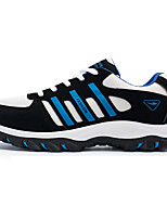 Men's Shoes PU / Tulle Athletic Sneakers Athletic Sneaker Flat Heel Lace-up Black / Blue / Orange