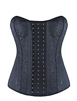 Burvogue Women's Gothic Latex Overbust Steampunk Corset Bustier Tops
