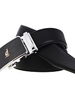A4009-2  Men's Cowhide Belt Business Automatic Buckle Belt Black