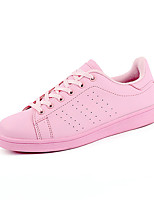 Men's Shoes PU Outdoor / Casual Flats Outdoor / Casual Walking Flat Heel Others / Lace-up Black / Pink / White