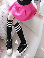 Girls Socks & Stockings,All Seasons Organic Cotton Black / White
