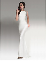 Cocktail Party / Formal Evening Dress Sheath / Column Strapless Floor-length Chiffon with Beading