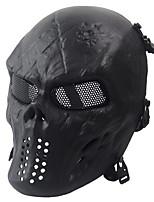Ejército de los aficionados negros tácticos de protección máscara de la máscara del cráneo viven campo cs esencial