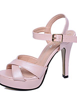 Women's Sandals Summer Sandals PU Casual Chunky Heel Buckle Pink / White Others