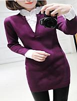Women's Solid Pink / Gray / Purple Cardigan,Simple / Street chic Long Sleeve