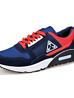 Men's Shoes Suede / Tulle Athletic Sneakers Athletic Sneaker Flat Heel Lace-up Black / Blue