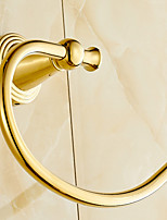 Gold-Plated finishing Bathroom Accessories Brass Material Towel Rings