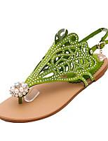Women's Sandals Summer Open Toe Synthetic Casual Flat Heel Others Black / Green / Purple