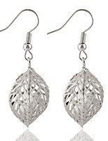 Fashion Hollow Out Metal Leaves Earrings