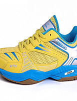 Men's Shoes PU Athletic Sneakers Athletic Indoor Court Flat Heel Lace-up Yellow / Red