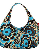 Women-Formal-Canvas-Tote-Blue / Yellow