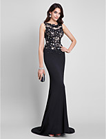 TS Couture® Formal Evening Dress Trumpet / Mermaid Scoop Sweep / Brush Train Jersey with Appliques