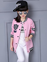 Girl's Casual/Daily Patchwork Suit & Blazer / Trench Coat,Rayon Spring / Fall Black / Pink / White