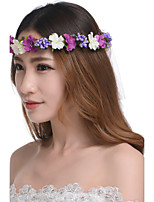 Women's Resin / Plastic Headpiece-Wedding / Outdoor Elegant Beach Flowers Wreaths 1 Piece