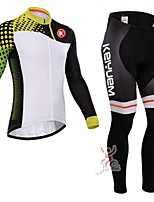 KEIYUEM Cycling Clothing Sets/Suits / Jerseys Unisex BikeBreathable / Quick Dry / Dust Proof / Wearable / Compression / 3D Pad / Back