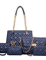 Women-Formal / Casual / Office & Career / Shopping-PU-Tote-Blue / Gold / Red / Black