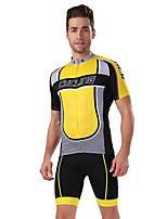 Deportes Bicicleta/Ciclismo Maillot + Pantalones Cortos/Maillot+Culotte / Tops / Prendas de abajo Hombres Mangas cortasTranspirable /