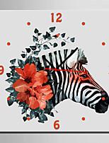 Moderne/Contemporain Animaux Horloge murale,Carré Toile40 x 40cm(16inchx16inch)x1pcs/ 50 x 50cm(20inchx20inch)x1pcs/ 60 x