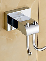 Robe Hook / Chrome / Wall Mounted /10*8*15 /Brass /Contemporary /10 8 0.256