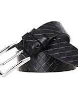 Men's Braided Cowhide Belts Leather Belt Leisure Business Strap