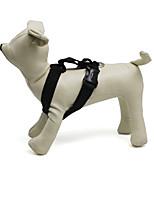 Gatos / Perros Cuello / Bozales Ajustable/Retractable / Seguridad Negro Nilón