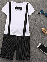 Boy's Casual/Daily Solid Clothing Set,Cotton Summer White