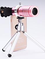universelle lentille 12 × télescope pour les téléphones mobiles iPhone / samsung argent / or / rose / noir