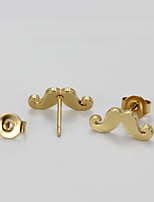 Earring Others Stud Earrings Jewelry Women Fashion Daily Titanium Steel 1 pair Gold