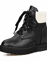 Women's Shoes Platform Fashion Boots / Creepers / Combat Boots / Round Toe Boots Dress / Casual Black / White