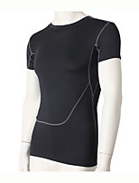 Running Sweatshirt / Compression Clothing Men's Short Sleeve Breathable / Quick Dry / Compression / Sweat-wicking Fitness / Running Sports