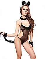 YUIYE® Hot Black Sexy Women Erotic Lingerie Sexy Costumes Sexy Clothes with Bracelet Rabbit Costume Cosplay