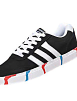 Men's Shoes PU Casual Fashion Sneakers Casual Indoor Court Flat Heel Others / Lace-up Black / Blue / Gray