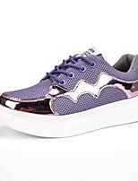 scarpe da donna di Tulle primavera / / autunno / inverno il comfort estivo non specificato casuale tallone piano lace-up viola / bianco /