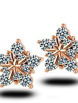 Hot Style Snowflakes Pentagram Stud Earrings