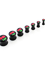 7pcs Black Red Cherry ear expansion set allergy fashion personality Puncture tool Puncture of the ear Anti allergy