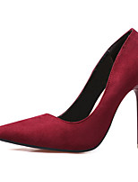 Women's Shoes Fleece Heels Casual Stiletto Heel Others Black / Green / Royal Blue / Fuchsia / Burgundy / Khaki