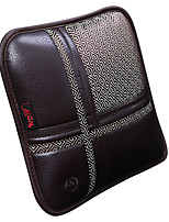 PU Leather Car Seat Back Pillow Gray