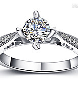 1CT Hollow Design Prongs Setting Engagement Ring for Women SONA Diamond Semi Mount Bridal Gift Solid Silver Jewelry 925