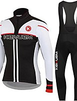 KEIYUEM®Others Spring/Summer/Autumn Long Sleeve Cycling Jersey+Bib Tights Ropa Ciclismo Cycling Clothing Suits #L18