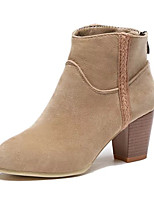 Women's Boots Winter Fashion Boots Fleece Casual Chunky Heel Others Black / Red / Khaki Others