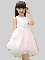 Girl's Casual/Daily Patchwork Dress,Cotton / Polyester All Seasons Pink