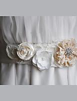 Cetim / Chifon / Liga Casamento / Festa/Noite / Dia a Dia Faixa-Florais / Pedraria / Imitação de Pérola Feminino 86 ½polegadas(220cm)
