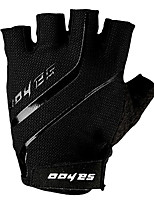 Half Finger Breathable Cycling Gloves Bike Gloves Bicycle Gloves Biking Gloves Shock-absorbing Gel Pad Black