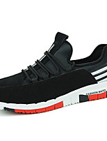 Men's Shoes Synthetic Athletic / Casual Sneakers Athletic / Casual Sneaker Flat Heel Lace-up Black / Blue
