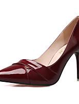 Mujer-Tacón Stiletto-Tacones-Tacones-Casual-PU-Negro / Rojo / Naranja / Bermellón / Fucsia / Desnudo