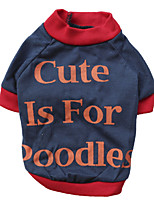 Gatti / Cani T-shirt Rosso / Arancione Estate / Primavera/Autunno Lettere & Numeri Di tendenza, Dog Clothes / Dog Clothing-DroolingDog