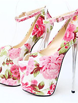 Women's Shoes Stiletto Heel Peep Toe Heels Dress Pink